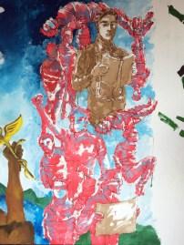 on site art mural