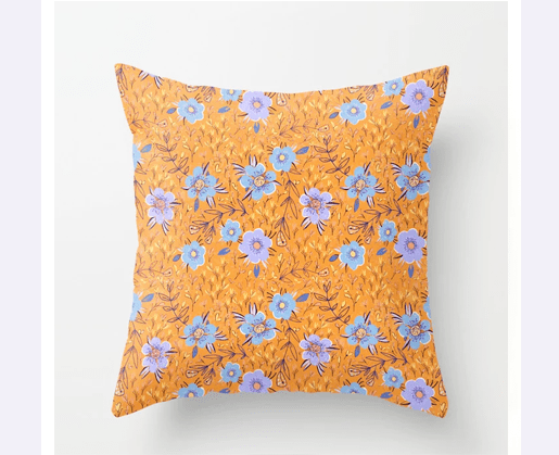 Pillow with pattern by Littlcrow