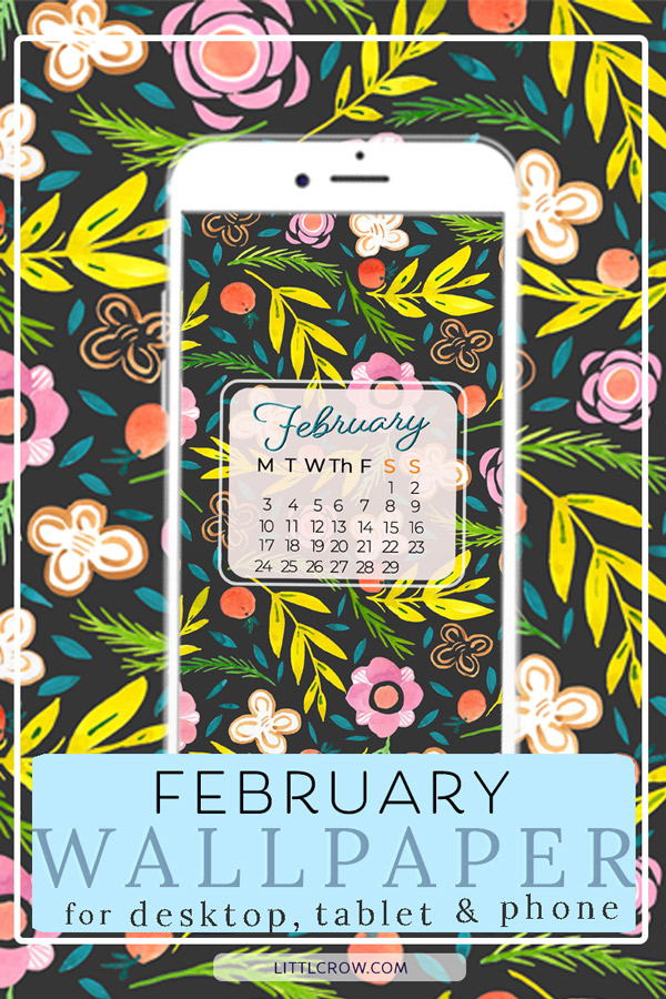 February wallpaper calendar by Jimena Garcia (LittlCrow)