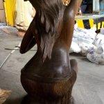 Hula Frau Hawaii Statue Skulptur Holz Massiv 80 Cm Figur Dekoration Little Big Horn Neu