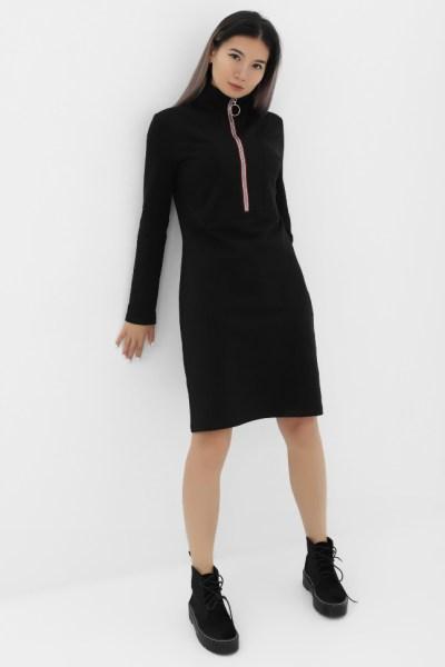 Платье черное с молнией
