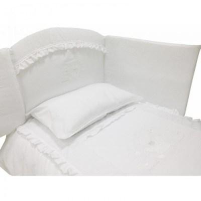 Комплект в кроватку Andy & Helen Медвежонок с кристаллами короткий борт (7 предметов)