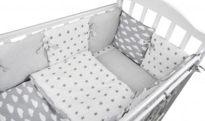 Комплект в кроватку Forest для овальной кроватки Sky (18 предметов)