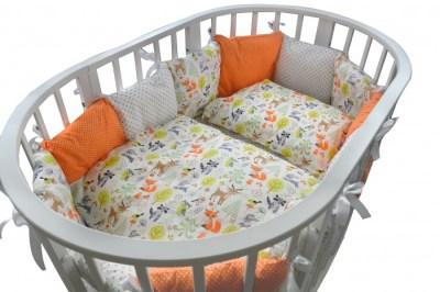 Комплект в кроватку Forest для овальной кроватки Friends (18 предметов)