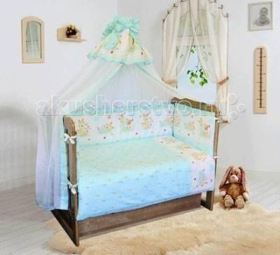 Комплект в кроватку Soni Kids Зайчик-садовод на медиуме (7 предметов)
