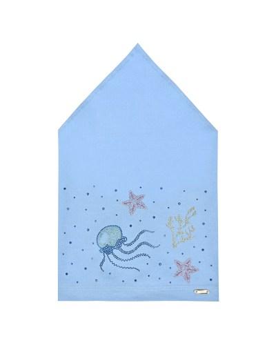 Голубая косынка с морским декором Il Trenino
