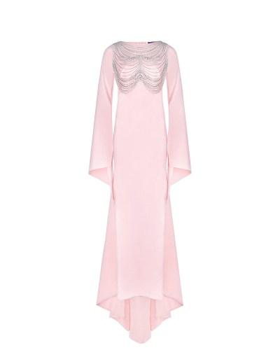 Розовое платье для беременных со стразами Monamoon