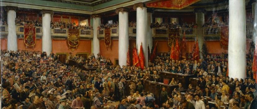 Исаак Бродский. Ленин на Втором Конгрессе Коминтерна. 1920 г.