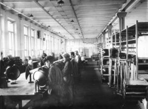 Цех завода им. Калинина в 50-е годы