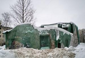 Развалины мастерской Леонида Шервуда сегодня