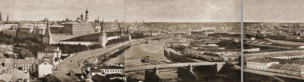 Часть панорамы Москвы, отснятой М. Шерером