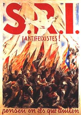 Агитационный плакат испанской секции МОПР
