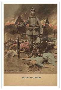 Ужасы войны на бельгийской пропагандистской открытке