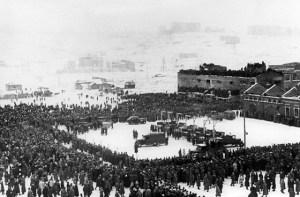 Исполнение приговора над немецкими военными преступниками в Cмоленске. 1945 год