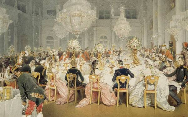 Приём в Благородном собрании. Россия, XIX век.