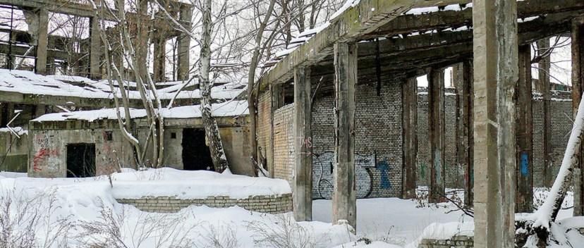 """Павильон """"Машиностроение"""" в ЦПКиО до реконструкции."""