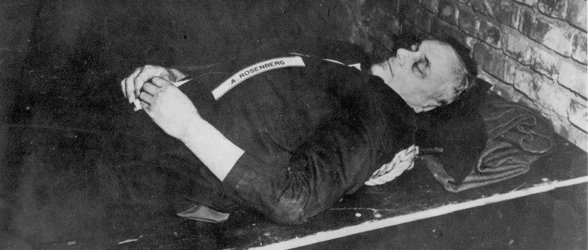 The dead body of Alfred Rosenberg