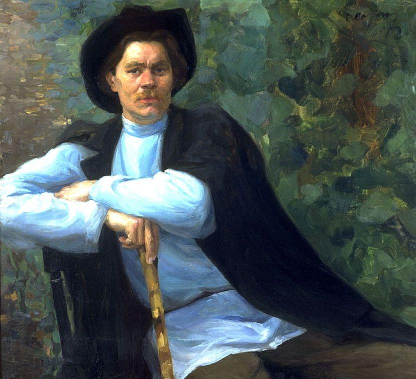 Савелий Сорин, портрет М.Горького, 1902 г.