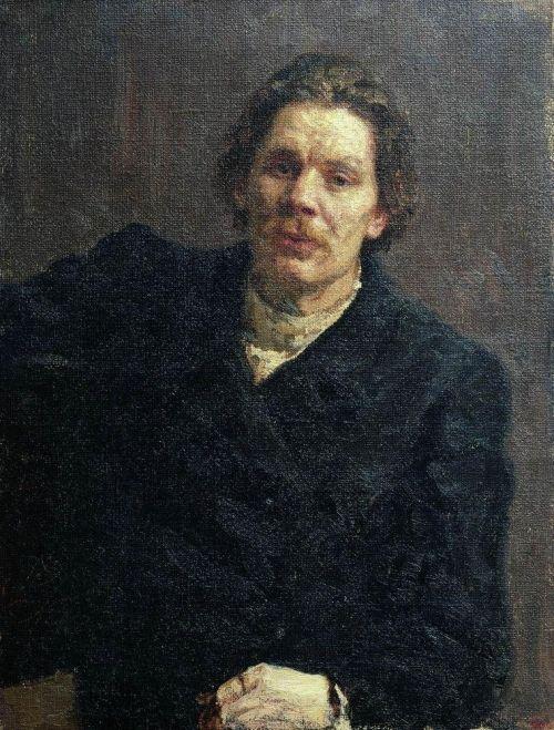 Портрет Горького кисти Репина. 1899 год