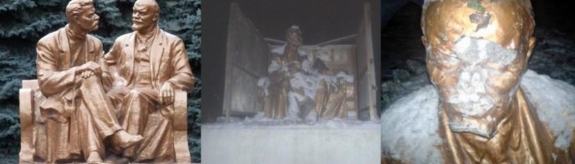 Памятник Ленину и Горькому в Одессе