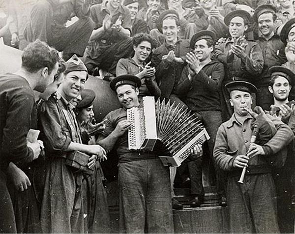 Испанские моряки. Февраль 1937 года
