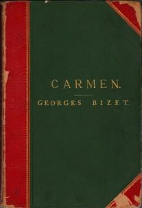 Обложка нотной записи оперы Жоржа Бизе «Кармен» изд. Отец Шуден и сыновья, Париж
