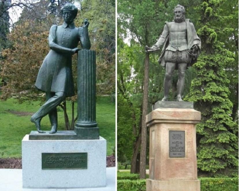 В 1981 году Москва и Мадрид обменялись знаками культурного внимания: в российской столице теперь стоит Сервантес, а в испанской - Пушкин