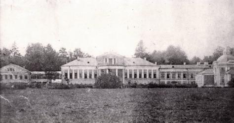 Усадьба Суханово, 1920-е гг.., главный дом с церковью