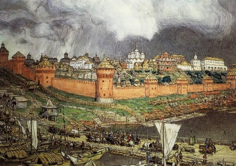 "Картина ""Московский Кремль времен Ивана III"""