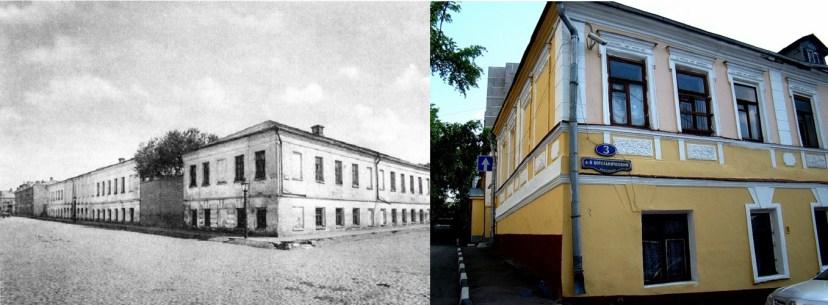 Городской ночлежный дом К. Морозова. Снимки конца XIX века и в наши дни