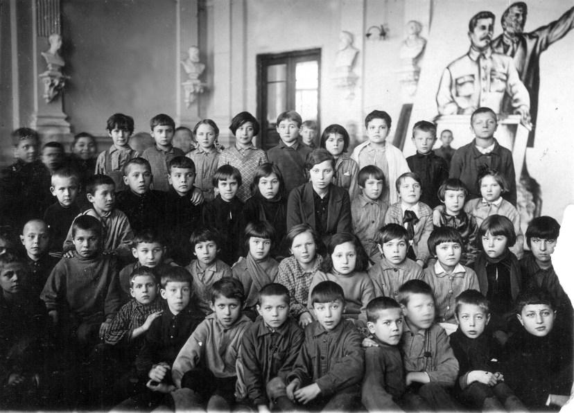 Дети в школе, ок.1938 г. Из личного архива Секачевой Д.