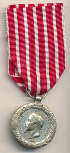 Памятная медаль за итальянскую кампанию 1859 - аверс