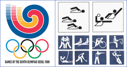 пиктограммы олимпиады в Сеуле 1988