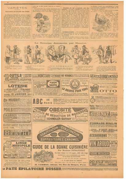 """""""Маленький провинциал"""" (Le Petit Provençal) № 26 от 20.11.1898, с. 6"""