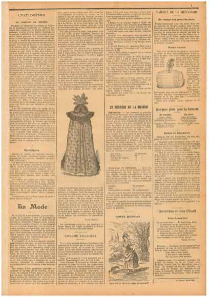 """""""Маленький провинциал"""" (Le Petit Provençal) № 26 от 20.11.1898, с. 7"""