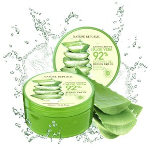 gel apaisant et hydratant 92% aloe vera nature republic