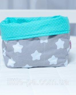Коробочка для детских аксессуаров «Звёзды с мятой»