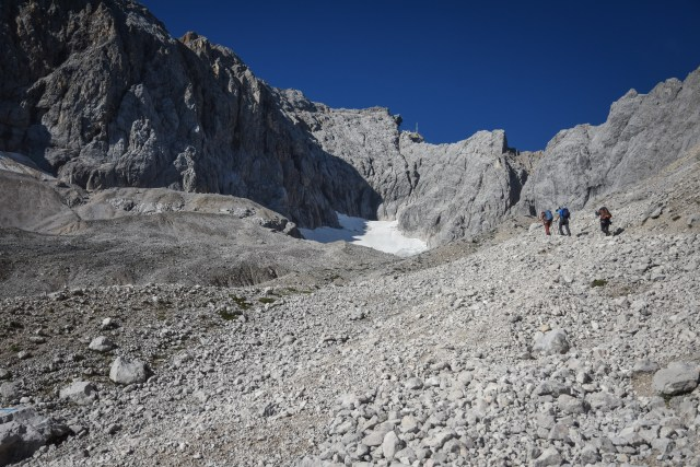 Germany Zugspitze Scree Slope