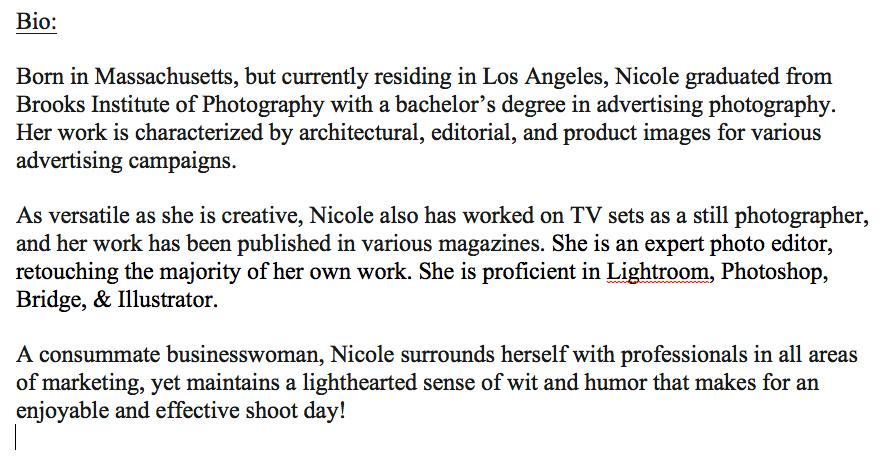 Nicole Bio