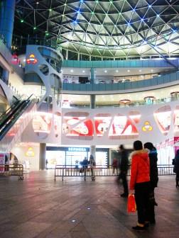 Das 889 Yueda-Einkaufszentrum schließt für die Nacht
