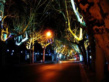 Kreative Straßenbeleuchtung in Changning