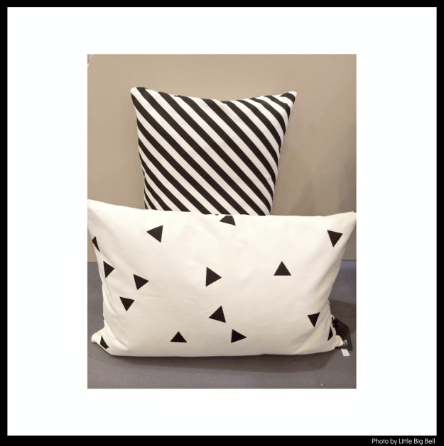 Ferm-Living-black-stripe-and-black-mini-triangle-cushion-photo-by-Little-Big-Bell