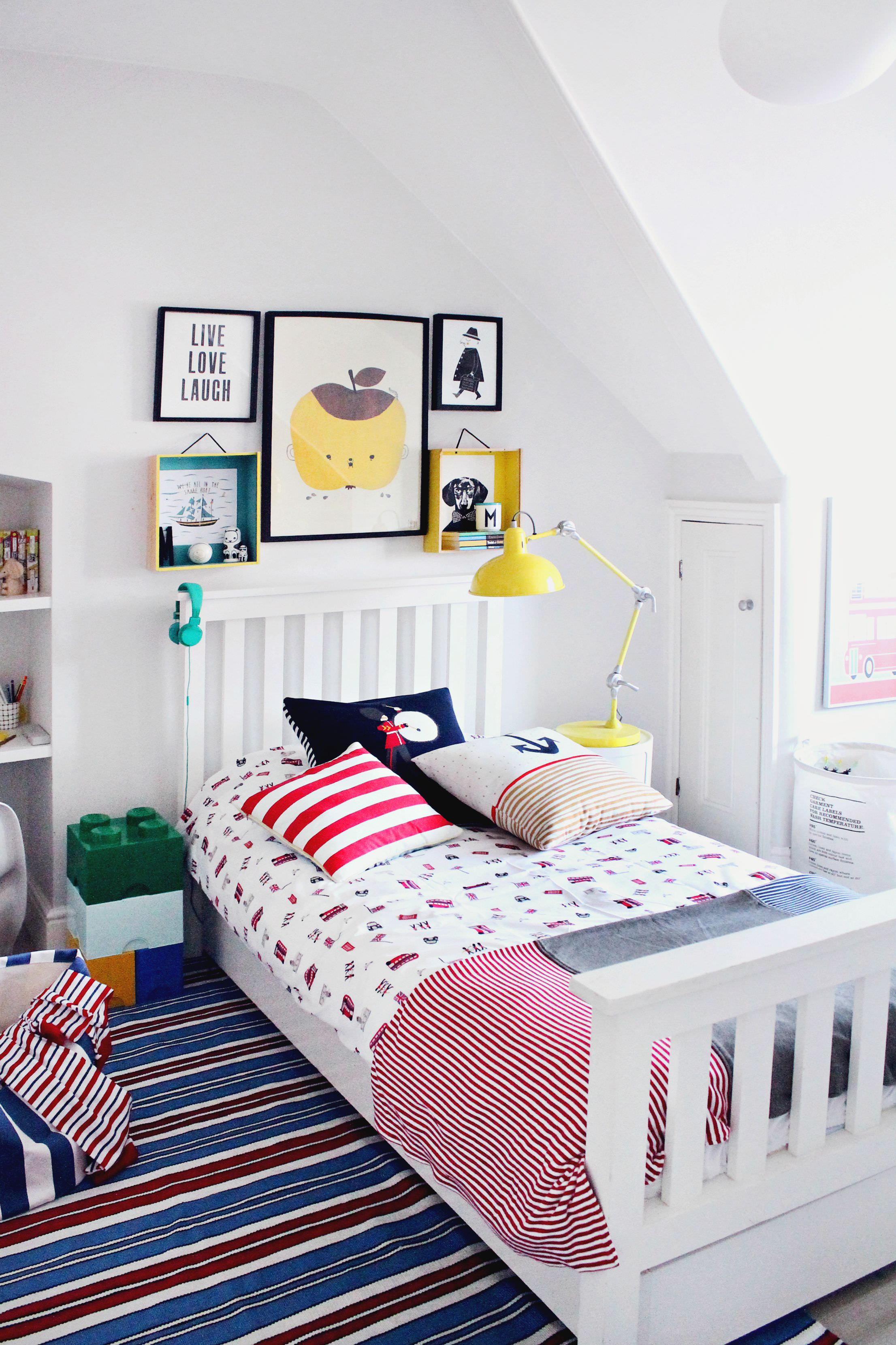 littleBIGBELL Boy\'s bedroom makeover with The Little White ...