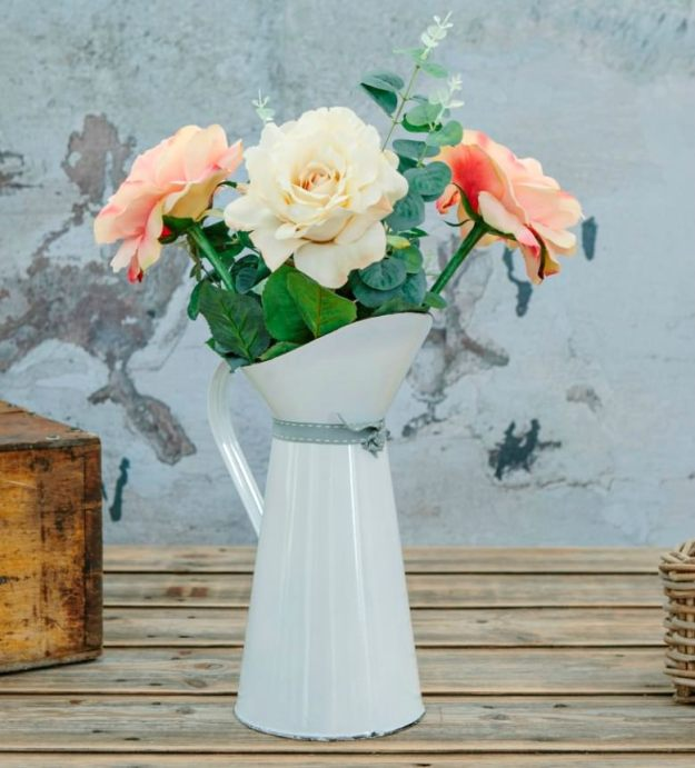 Paper-Whites-Artificial-Flowers- Rose- & -Eucalyptus
