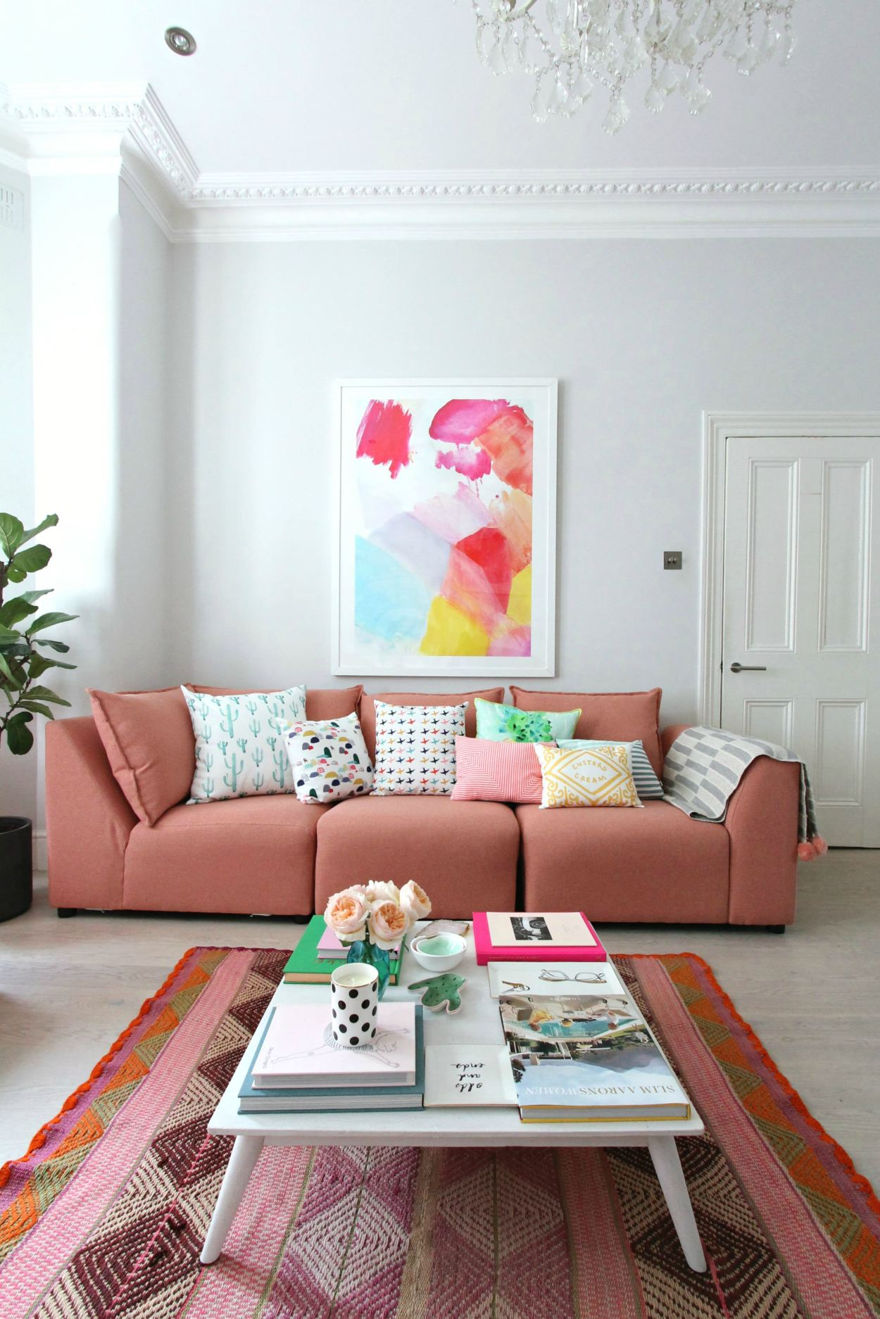 How To Style A Pink Color Sofa