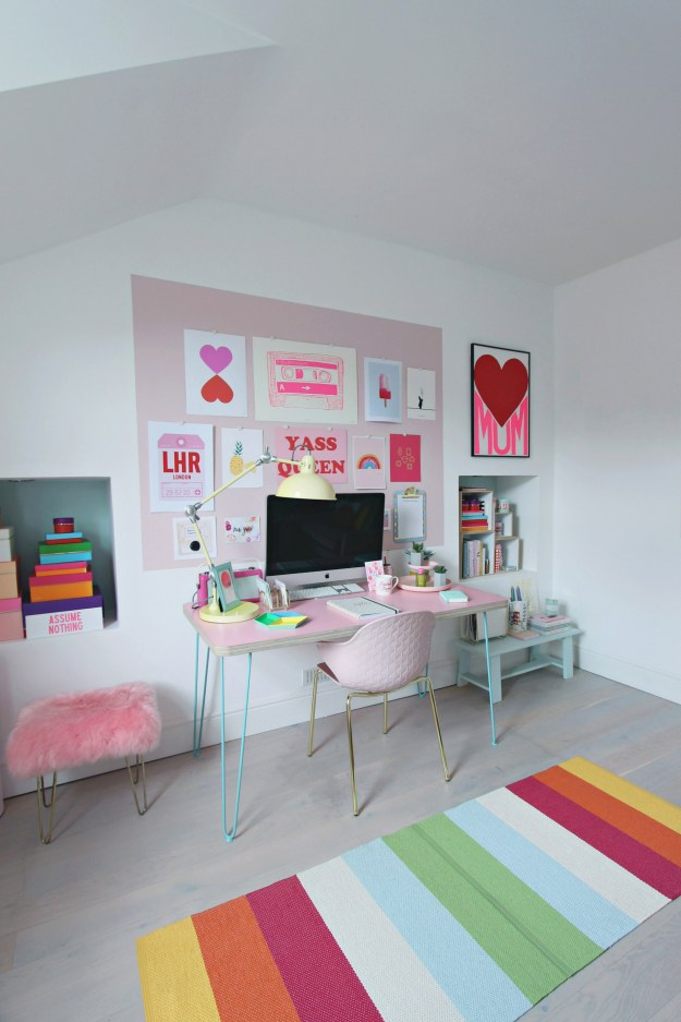 Pink walls Valspar custom colour