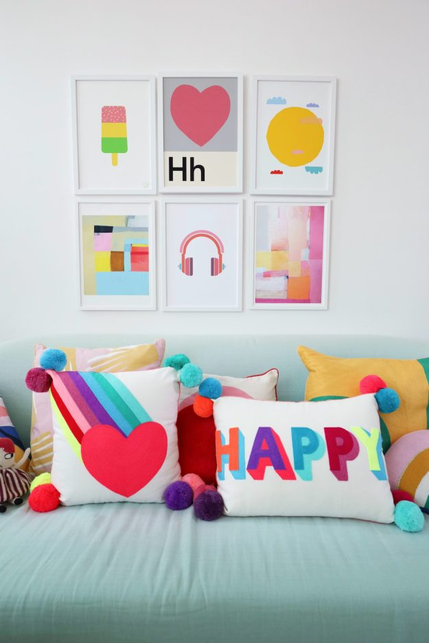 home with colours on a budget