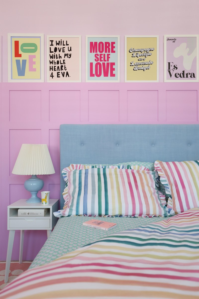 colourful stripes bedding