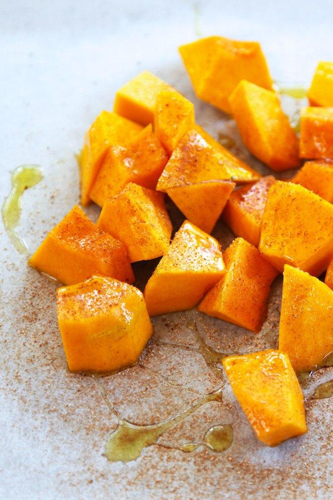 Roast Pumpkin with Chickpeas and Coriander