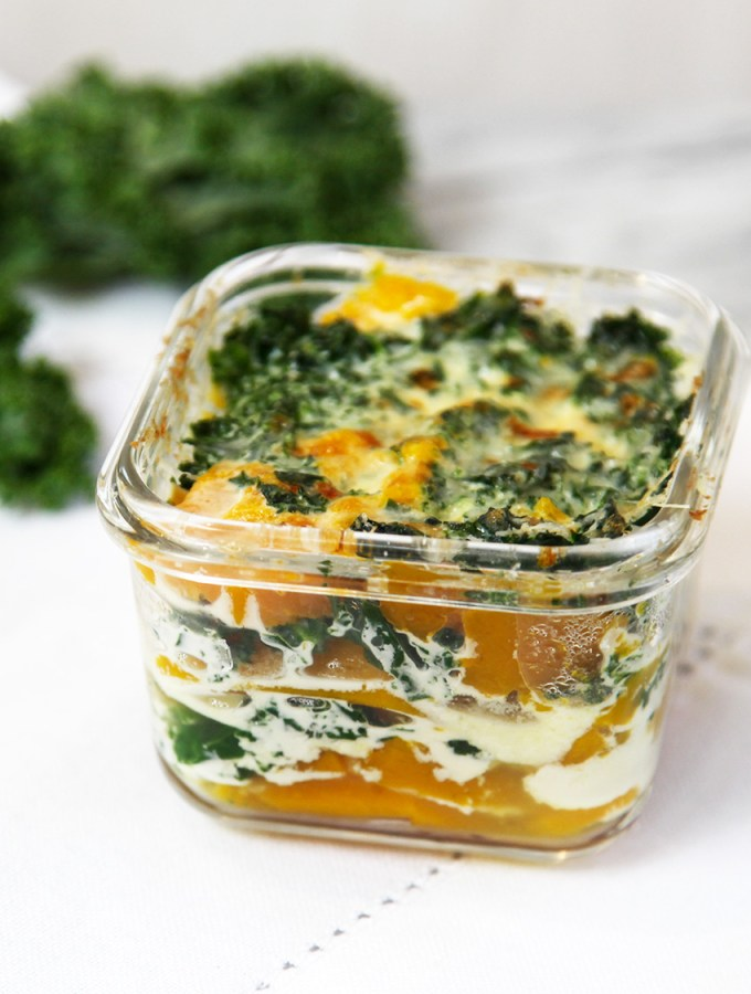 Kale and Pumpkin Gratin - easy and one of my babies favourites